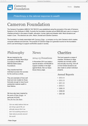 Cameron Foundation - homepage