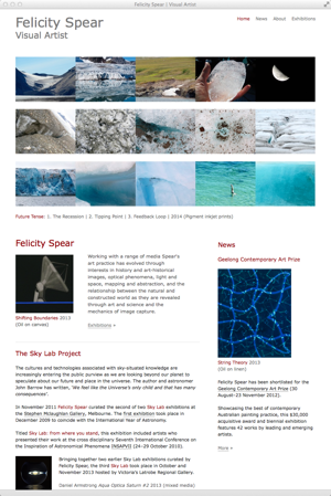Felicity Spear | Visual Artist - homepage