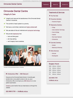 Ormonde Dental Care | Hurstville Dentist - homepage