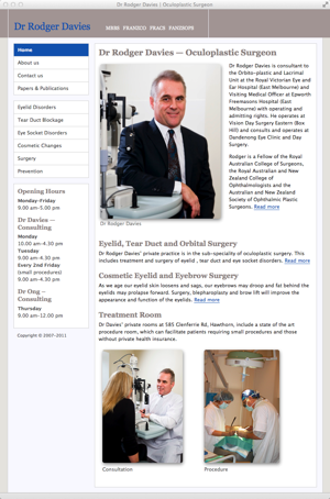 Rodger Davies - Oculoplastic Surgeon - homepage